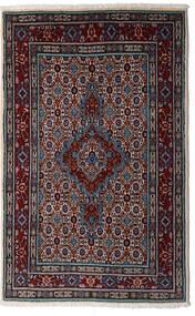 Moud Vloerkleed 80X126 Echt Oosters Handgeknoopt Donkerrood/Lichtgrijs (Wol/Zijde, Perzië/Iran)
