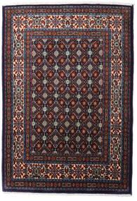 Moud Vloerkleed 80X125 Echt Oosters Handgeknoopt Zwart/Donkerrood (Wol/Zijde, Perzië/Iran)