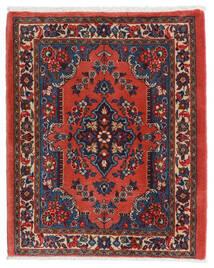 Sarough Vloerkleed 67X80 Echt Oosters Handgeknoopt Donkerrood/Roestkleur (Wol, Perzië/Iran)