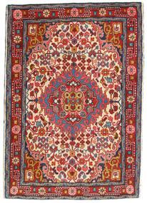 Hamadan Vloerkleed 65X95 Echt Oosters Handgeknoopt Donkerrood/Roestkleur (Wol, Perzië/Iran)