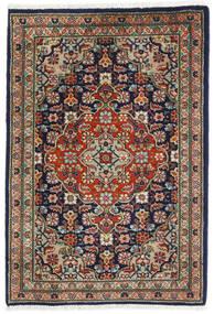 Tabriz Vloerkleed 57X82 Echt Oosters Handgeknoopt Zwart/Donkergrijs (Wol, Perzië/Iran)