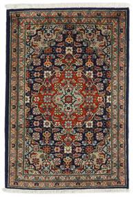 Tabriz Vloerkleed 54X82 Echt Oosters Handgeknoopt Zwart/Donkergrijs (Wol, Perzië/Iran)