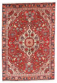 Jozan Vloerkleed 60X90 Echt Oosters Handgeknoopt Donkerrood/Roestkleur (Wol, Perzië/Iran)