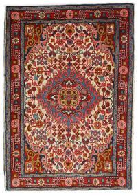 Hamadan Vloerkleed 66X94 Echt Oosters Handgeknoopt Donkerrood/Donkerbruin (Wol, Perzië/Iran)