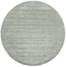 Handloom - Soft Teal Vloerkleed Ø 250 Modern Rond Lichtgroen/Turquoise Blauw Groot (Wol, India)