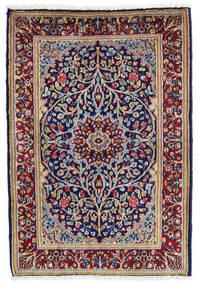 Kerman Vloerkleed 60X90 Echt Oosters Handgeknoopt Donkerpaars/Donkerrood (Wol, Perzië/Iran)