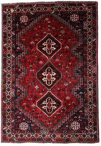 Shiraz Vloerkleed 185X265 Echt Oosters Handgeknoopt Donkerrood/Donkerbruin (Wol, Perzië/Iran)
