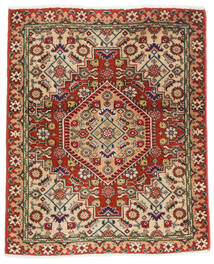 Tabriz 50 Raj Vloerkleed 57X70 Echt Oosters Handgeknoopt Donkerrood/Donkerbruin (Wol/Zijde, Perzië/Iran)