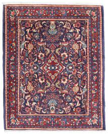 Sarough Vloerkleed 67X83 Echt Oosters Handgeknoopt Donkerpaars/Wit/Creme (Wol, Perzië/Iran)