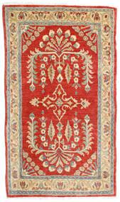 Sarough Vloerkleed 78X135 Echt Oosters Handgeknoopt Roestkleur/Donkerbeige (Wol, Perzië/Iran)