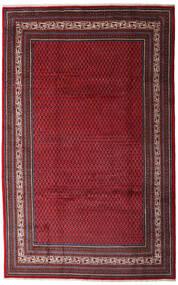 Sarough Mir Vloerkleed 200X315 Echt Oosters Handgeknoopt Donkerrood/Donkerbruin (Wol, Perzië/Iran)