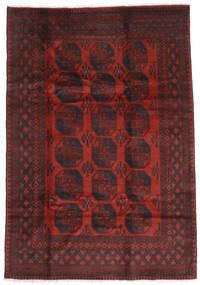 Afghan Vloerkleed 196X285 Echt Oosters Handgeknoopt Donkerrood/Donkerbruin (Wol, Afghanistan)