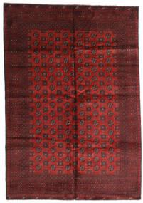 Afghan Vloerkleed 199X287 Echt Oosters Handgeknoopt Donkerrood/Donkerbruin (Wol, Afghanistan)