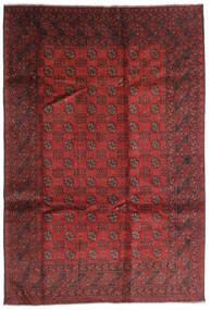 Afghan Vloerkleed 196X286 Echt Oosters Handgeknoopt Donkerrood/Roestkleur (Wol, Afghanistan)