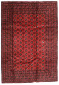 Afghan Vloerkleed 202X289 Echt Oosters Handgeknoopt Donkerrood/Roestkleur (Wol, Afghanistan)