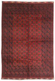 Afghan Vloerkleed 197X284 Echt Oosters Handgeknoopt Donkerrood/Donkerbruin (Wol, Afghanistan)