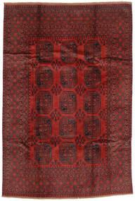 Afghan Vloerkleed 193X289 Echt Oosters Handgeknoopt Donkerrood/Donkerbruin (Wol, Afghanistan)