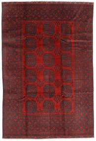 Afghan Vloerkleed 195X288 Echt Oosters Handgeknoopt Donkerrood/Zwart (Wol, Afghanistan)