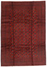 Afghan Vloerkleed 199X289 Echt Oosters Handgeknoopt Donkerrood/Donkerbruin (Wol, Afghanistan)