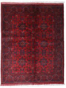 Afghan Khal Mohammadi Vloerkleed 152X191 Echt Oosters Handgeknoopt Donkerrood/Donkerbruin (Wol, Afghanistan)