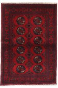 Afghan Khal Mohammadi Vloerkleed 99X144 Echt Oosters Handgeknoopt Donkerrood/Rood (Wol, Afghanistan)
