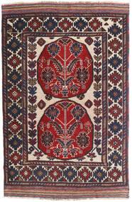 Kelim Golbarjasta Vloerkleed 100X155 Echt Oosters Handgeweven Donkerrood/Donkergrijs (Wol, Afghanistan)