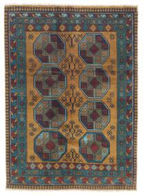 Afghan Vloerkleed 122X170 Echt Oosters Handgeknoopt Donkergrijs/Lichtbruin (Wol, Afghanistan)