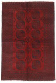 Afghan Vloerkleed 160X232 Echt Oosters Handgeknoopt Donkerrood/Donkerbruin (Wol, Afghanistan)