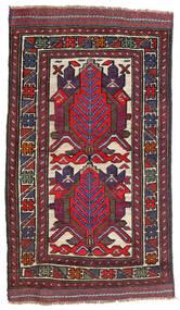 Kelim Golbarjasta Vloerkleed 80X140 Echt Oosters Handgeweven Donkerrood/Donkerpaars (Wol, Afghanistan)