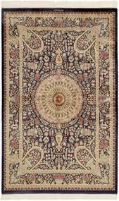 Ghom Zijde Vloerkleed 99X157 Echt Oosters Handgeknoopt Donkerbruin/Bruin (Zijde, Perzië/Iran)