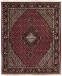 Tabriz 50 Raj Vloerkleed 152X185 Echt Oosters Handgeknoopt Donkerrood/Donkerbruin/Lichtbruin (Wol/Zijde, Perzië/Iran)