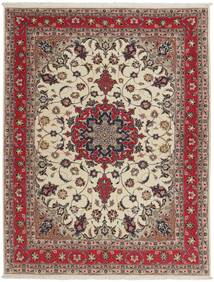 Tabriz 50 Raj Vloerkleed 151X203 Echt Oosters Handgeknoopt Lichtgrijs/Donkerrood (Wol/Zijde, Perzië/Iran)