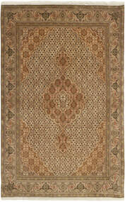 Tabriz 50 Raj Vloerkleed 100X158 Echt Oosters Handgeknoopt Lichtbruin/Bruin (Wol/Zijde, Perzië/Iran)