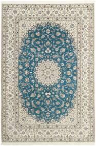 Nain 6La Vloerkleed 210X312 Echt Oosters Handgeknoopt Lichtgrijs/Beige (Wol/Zijde, Perzië/Iran)