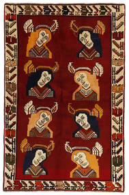 Ghashghai Vloerkleed 124X195 Echt Oosters Handgeknoopt Donkerrood (Wol, Perzië/Iran)
