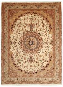 Tabriz 50 Raj Vloerkleed 250X336 Echt Oosters Handgeknoopt Bruin/Lichtbruin Groot (Wol/Zijde, Perzië/Iran)