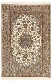 Isfahan Zijden Pool Vloerkleed 112X174 Echt Oosters Handgeknoopt Beige/Lichtbruin (Wol/Zijde, Perzië/Iran)