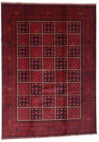 Afghan Khal Mohammadi Vloerkleed 203X284 Echt Oosters Handgeknoopt Donkerrood (Wol, Afghanistan)