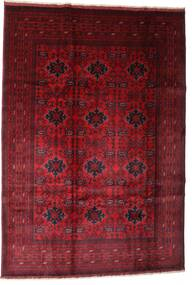 Afghan Khal Mohammadi Vloerkleed 201X293 Echt Oosters Handgeknoopt Donkerrood/Donkerbruin (Wol, Afghanistan)