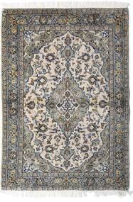Keshan Vloerkleed 98X140 Echt Oosters Handgeknoopt Lichtgrijs/Donkergrijs (Wol, Perzië/Iran)