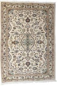 Keshan Vloerkleed 103X144 Echt Oosters Handgeknoopt Lichtgrijs/Beige (Wol, Perzië/Iran)