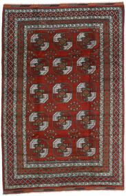 Afghan Vloerkleed 200X296 Echt Oosters Handgeknoopt Donkerrood/Donkergrijs (Wol, Afghanistan)