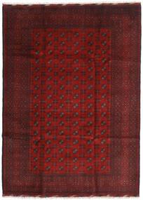 Afghan Vloerkleed 205X284 Echt Oosters Handgeknoopt Donkerrood/Donkerbruin (Wol, Afghanistan)
