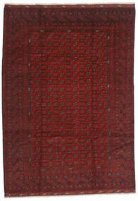 Afghan Vloerkleed 206X289 Echt Oosters Handgeknoopt Donkerrood/Donkerbruin (Wol, Afghanistan)