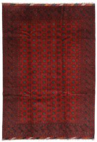 Afghan Vloerkleed 202X283 Echt Oosters Handgeknoopt Donkerrood/Donkerbruin (Wol, Afghanistan)