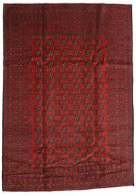 Afghan Vloerkleed 198X283 Echt Oosters Handgeknoopt Donkerrood/Donkerbruin (Wol, Afghanistan)