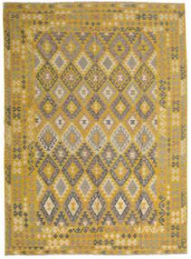 Kelim Afghan Old Style Vloerkleed 255X358 Echt Oosters Handgeweven Geel/Lichtbruin Groot (Wol, Afghanistan)