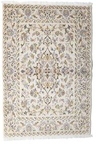 Keshan Vloerkleed 100X148 Echt Oosters Handgeknoopt Lichtgrijs/Beige (Wol, Perzië/Iran)