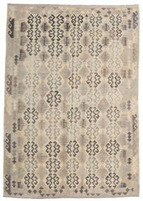 Kelim Afghan Old Style Vloerkleed 205X293 Echt Oosters Handgeweven Lichtgrijs/Beige (Wol, Afghanistan)