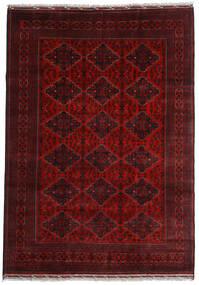 Kunduz Vloerkleed 200X284 Echt Oosters Handgeknoopt Donkerrood (Wol, Afghanistan)